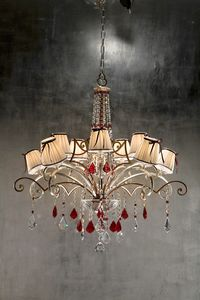 967110, Chandelier with crystal pendants