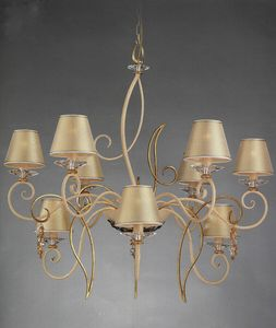 99619, Chandelier with golden parals