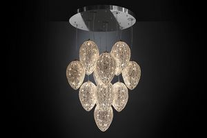 Arabesque Egg 14, Cluster chandelier