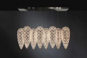 Arabesque Lightfall Sensation x 8, Extra large chandelier