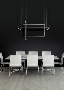Area, Suspension lamp with a geometric design