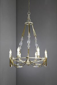 Art. 1082-06-00, Iron chandelier with crystals
