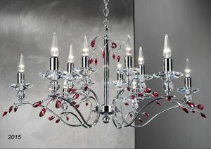 Art. 2015 Soiree, Chromed brass and crystal chandelier