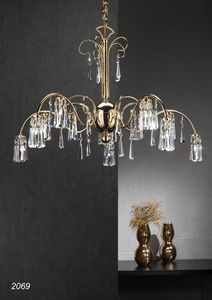 Art. 2069 Orion, Chandelier handcrafted in Italy
