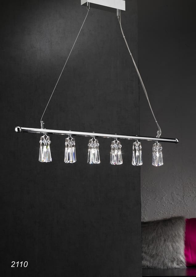 Art. 2110 Orion, Chandelier with crystal hanging elements