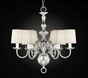 Art. 230/6, Brass chandelier with classic lines