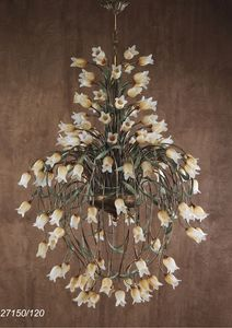 Art. 27150/120 Butterfly, Chandelier with floral elements