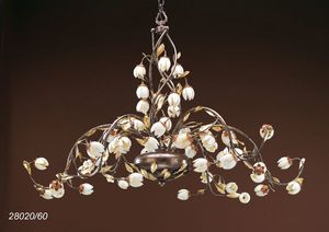 Art. 28020/60 Fior di Loto, Majestic chandelier with floral decorations
