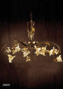 Art. 29820 Jolie, Chandelier made in brass and blown glasses