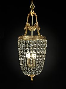 Art. 680 Cr, Chandelier with crystal chains