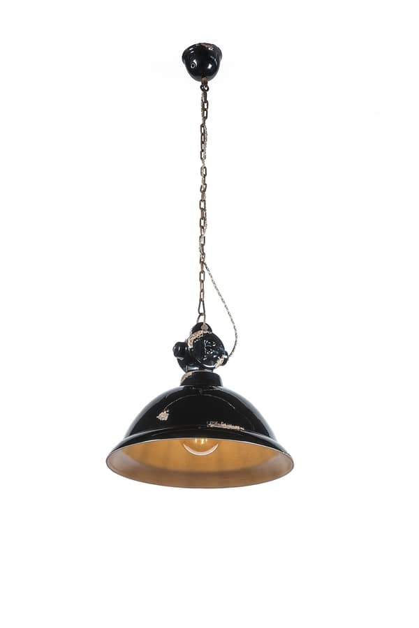 Art. L 89, Retro style chandelier, dome lampshade