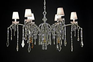 Art. Mary, Sparkling chandelier with crystal and bobeches