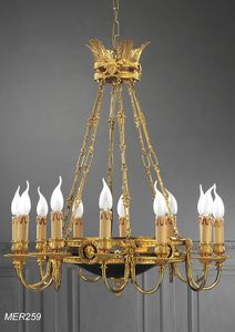 Art. MER 259, Chandelier with lacquer painted cup
