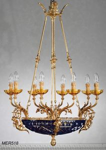 Art. MER 518, Classic chandelier with crystal bowl