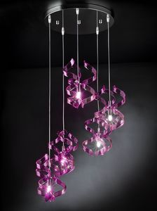ASTRO Ø 40, Suspension lamp with blown glass