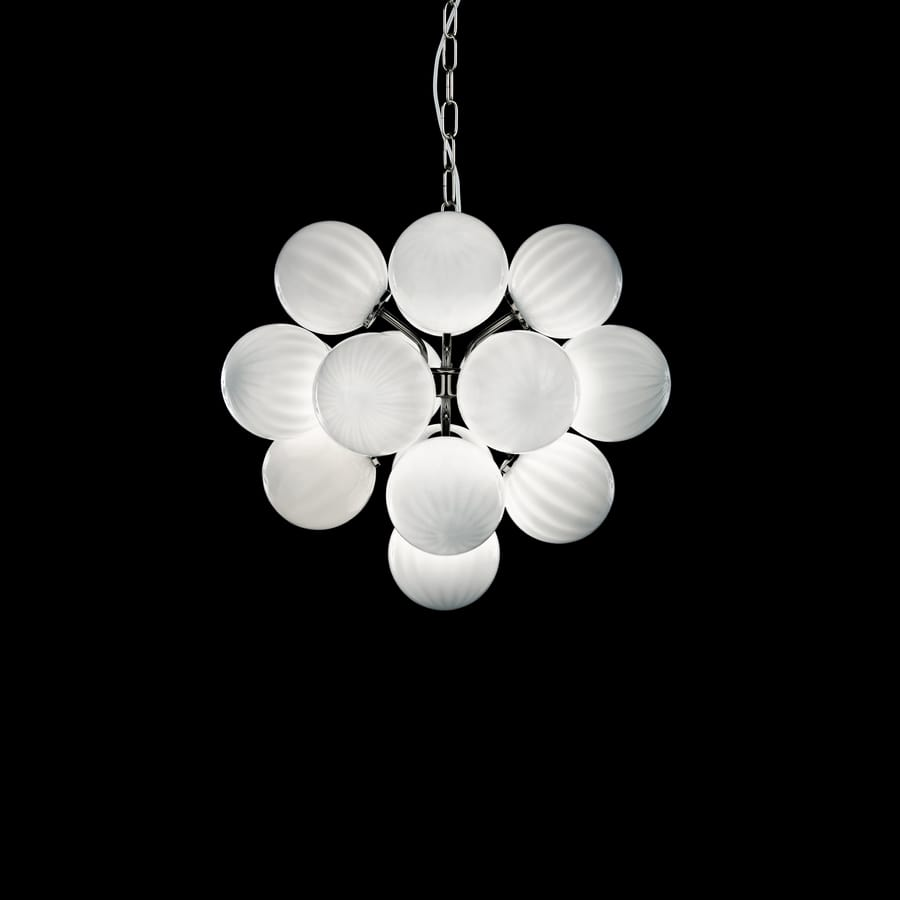 Atmosphera SS2800-17-W-N, Suspension lamp with spheres in white glass