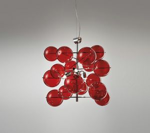 ATOM Ø 40, Suspension lamp with crystal balls