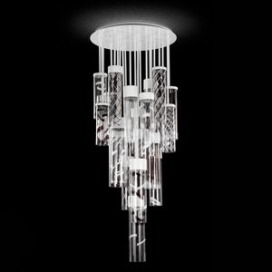 Bebop PL6550-12-1DW, Ceiling lamp with tube glass