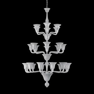 Bevante D0353-12+8+6-S, Chandelier with straight arms, Venetian style