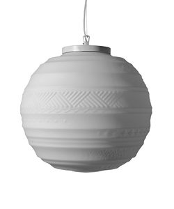 Braille SE144 2B INT, Round chandelier in white glass