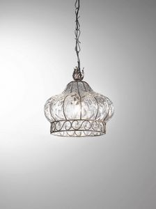 Carro Ms364-025, Crown-shaped pendant lamp in crystal