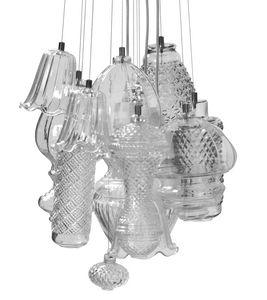 Ceraunavolta configuration 2, Blown glass modular chandelier
