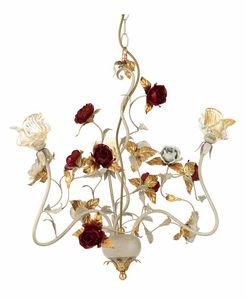 Claire LA/3, Chandelier with decorative roses