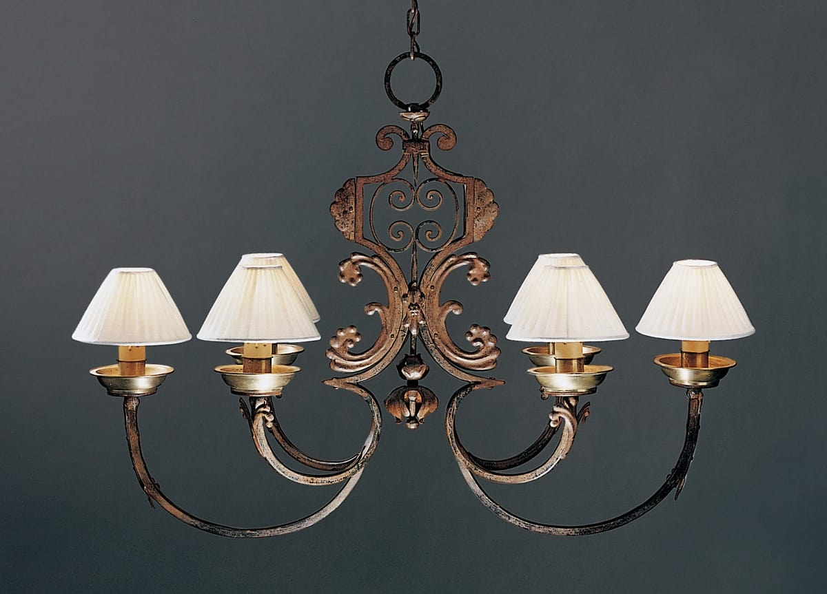 CORTINE HL1031CH-6, Forged iron chandelier with rust finish