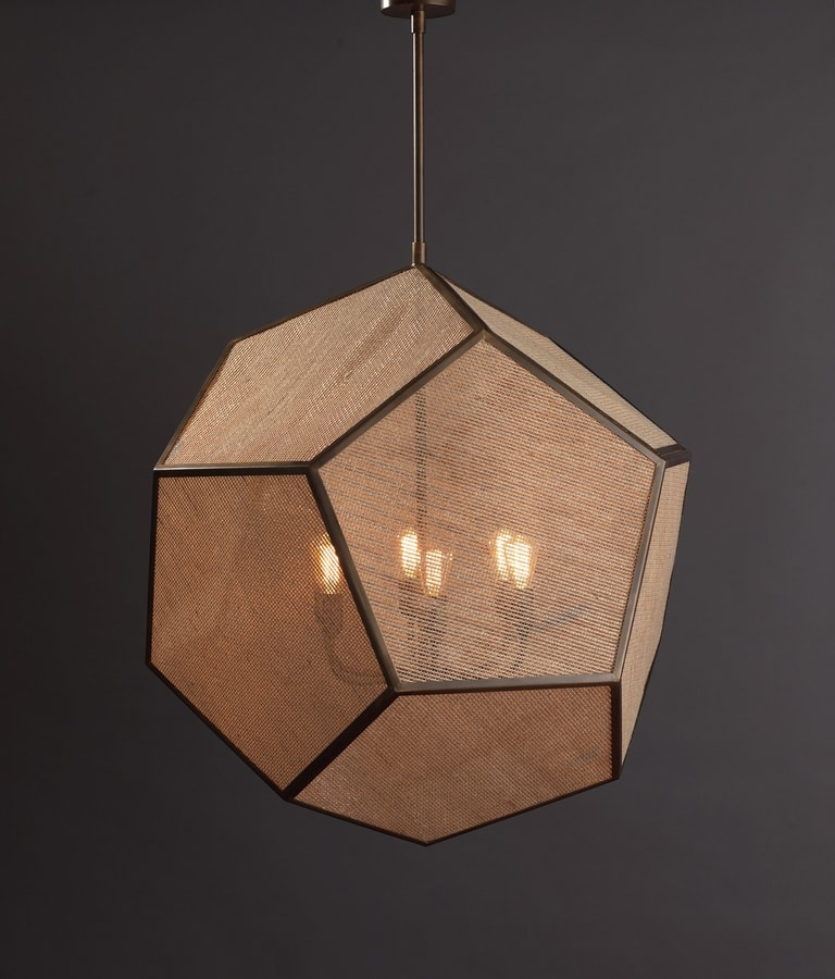 DODECAEDRO HL1020CH-1, Brass chandelier