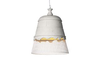 Domenica SE102, Suspension lamp in metal mesh and plaster
