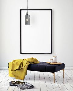 Ebe, Suspension lamp with gray smoked glass diffuser