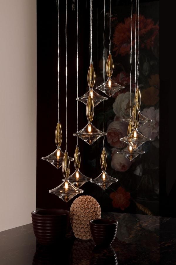 ETOILE, Suspension lamp in glass