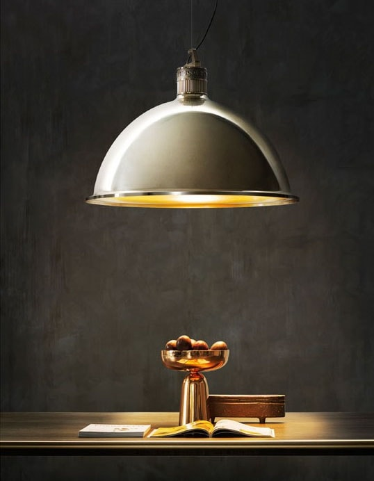 Factory Lamp, Suspension light in brass