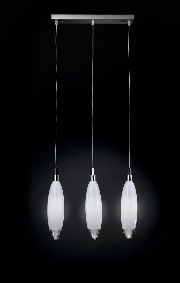 FLO L 40, Pendant lamp with crystal pendants
