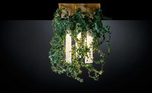 Flower Power Ivy Garland, Nature inspired chandelier