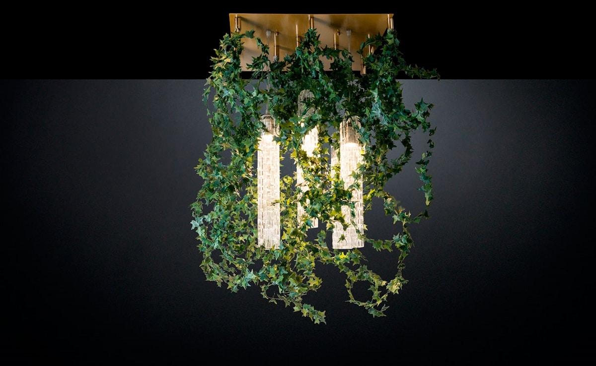 Flower Power Ivy Garland, Nature inspired chandelier