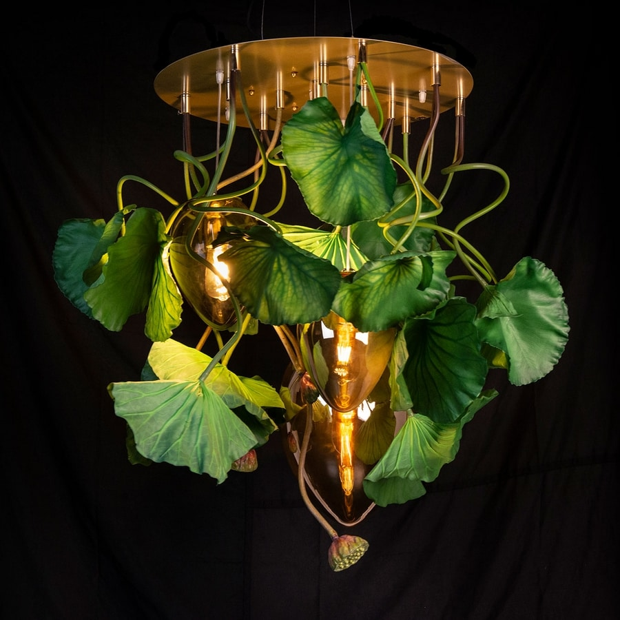 Flower Power Lotus Round, Chandelier inspired by nature
