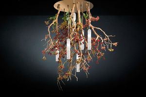 Flower Power Manzanite, Nature inspired chandelier