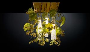 Flower Power Physalis Anthurium, LED chandelier