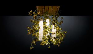 Flower Power Physalis, Modular chandelier, with a nature design