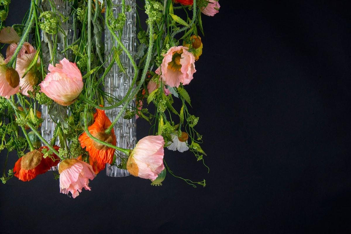 Flower Power Poppy Round, Floral design chandelier