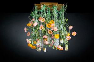 Flower Power Poppy Square, Chandelier with flowers