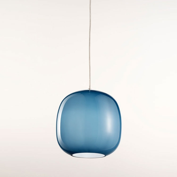 Forme Ls625-025, Chandelier in blue satin glass