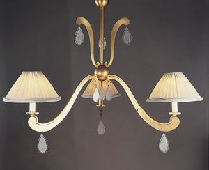 FORMELLE HL1036CH-3, Iron chandelier with crystal pendants