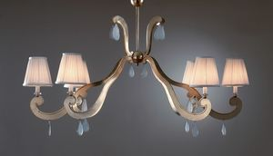 FORMELLE HL1036CH-6, Iron chandelier with lampshades