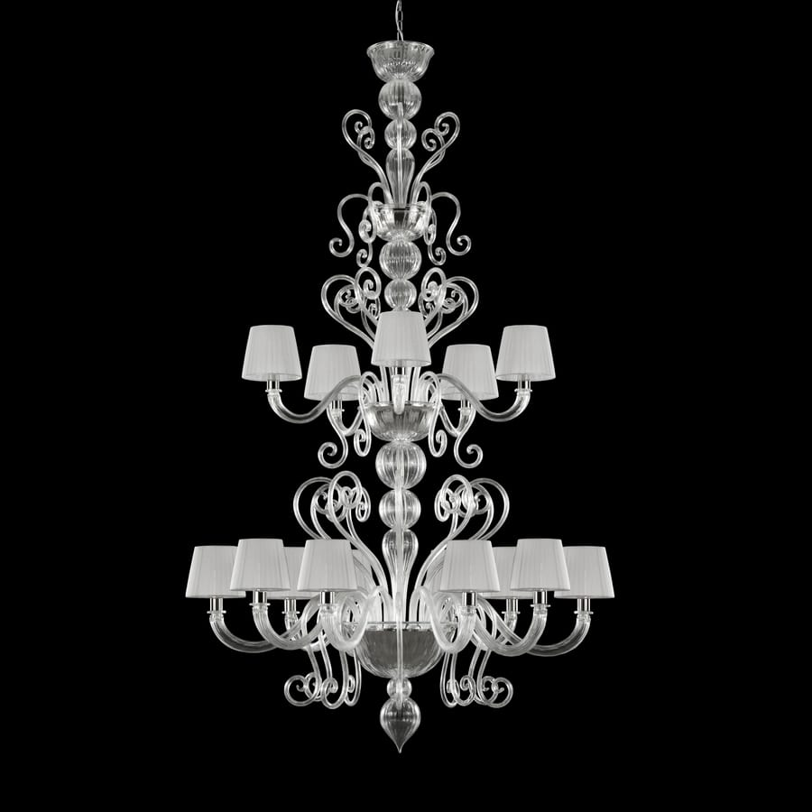 Gatsby SP0484-10+5-CD1, Chandelier with ornamental crest and lampshades