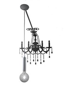 Ghost SE634P, Lamp with sticker that simulates the shadow of an old chandelier
