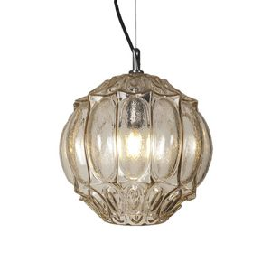 Ginger SE116 2, Chandelier in pale yellow or smoked clear glass