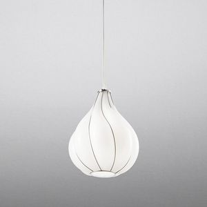 Goccia Rs409-030, Suspension lamp in white glass