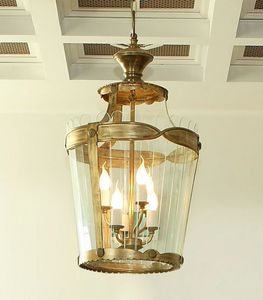 HL1041CH-3, Chandelier with transparent cut glass